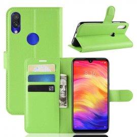 Funda Libro Xiaomi Redmi 7 cuero Soporte Verde