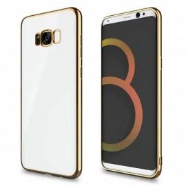 Funda Gel Galaxy S8 con bordes Dorados