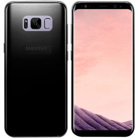Funda Gel Samsung Galaxy S8 negra Flexible y lavable