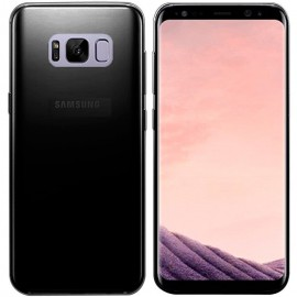 Funda Gel Samsung Galaxy S8 Plus negra Flexible y lavable