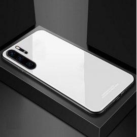 Funda Huawei P30 Pro Tpu Trasera Cristal Blanca