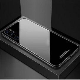 Funda Huawei P30 Pro Tpu Trasera Cristal Negra