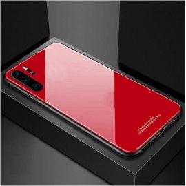 Funda Huawei P30 Pro Tpu Trasera Cristal Roja