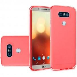 Funda Gel LG G6 Flexible y lavable Roja
