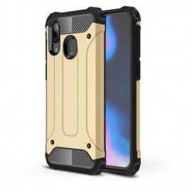 Funda Samsung Galaxy A40 Shock Resistante Dorada.