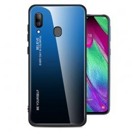 Funda Samsung Galaxy A40 Tpu Trasera Cristal Azul