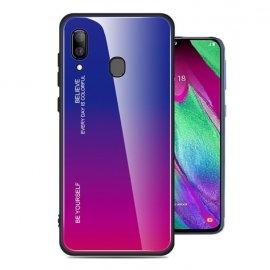 Funda Samsung Galaxy A40 Tpu Trasera Cristal Violeta