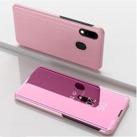 Funda Libro Smart Translucida Samsung Galaxy A40 Oro Rosa