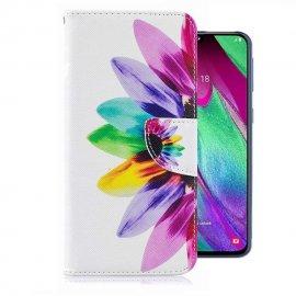 Funda Libro Samsung Galaxy A40 cuero Dibujo Plumas