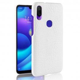 Carcasa Xiaomi Mi Play Cuero Estilo Croco Blanca