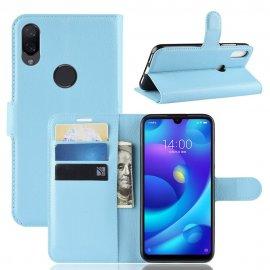Funda Libro Xiaomi Mi Play cuero Soporte Azul