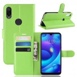 Funda Libro Xiaomi Mi Play cuero Soporte Verde