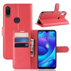 Funda Libro Xiaomi Mi Play cuero Soporte Rojo