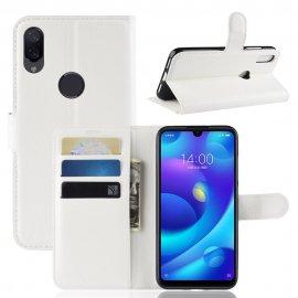 Funda Libro Xiaomi Mi Play cuero Soporte Blanco