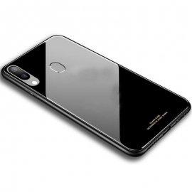 Carcasa Samsung Galaxy A40 Tpu Trasera Cristal Negra