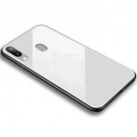 Carcasa Samsung Galaxy A40 Tpu Trasera Cristal Blanca