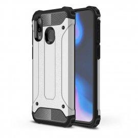 Funda Samsung Galaxy A20 Shock Resistante Gris Plata