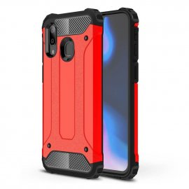 Funda Samsung Galaxy A20 Shock Resistante Roja