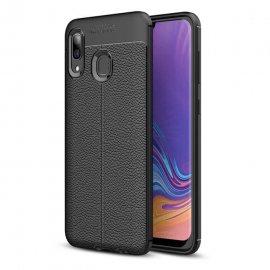 Funda Samsung Galaxy A20 Tpu 3D Cuero Negra