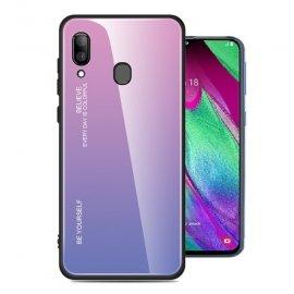 Funda Samsung Galaxy A20 Tpu Trasera Cristal Rosa