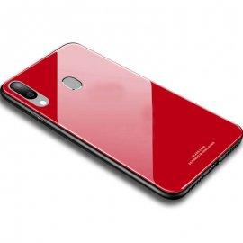 Carcasa Samsung Galaxy A20 Tpu Trasera Cristal Roja