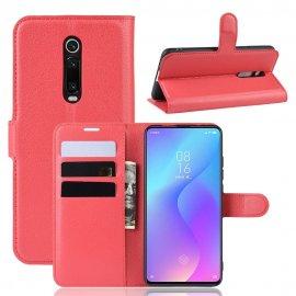 Funda Libro Xiaomi Redmi K20 cuero Soporte Roja