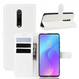 Funda Libro Xiaomi Redmi K20 cuero Soporte Blanca