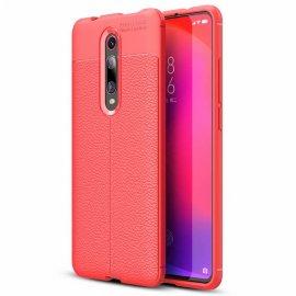Funda Xiaomi MI 9T Tpu Cuero 3D Roja