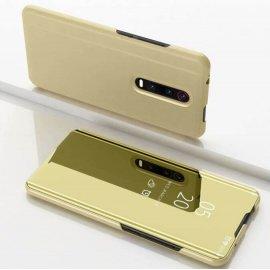 Funda Libro Smart Translucida Xiaomi MI 9T Dorada