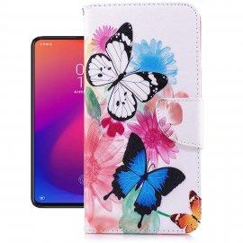 Funda Libro Xiaomi MI 9 T Soporte Mariposas