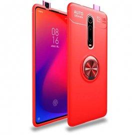 Funda Xiaomi MI 9T Anillo Soporte Roja