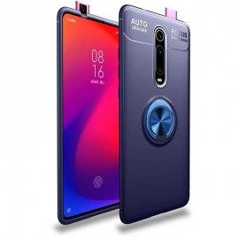Funda Xiaomi MI 9T Anillo Soporte Azul