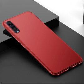 Funda Gel Samsung Galaxy A70 Flexible y lavable Mate Roja