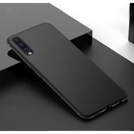 Funda Gel Samsung Galaxy A70 Flexible y lavable Mate Negra