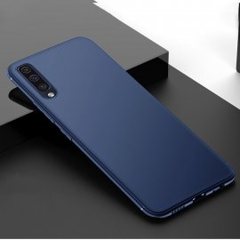 Funda Gel Samsung Galaxy A70 Flexible y lavable Mate Azul
