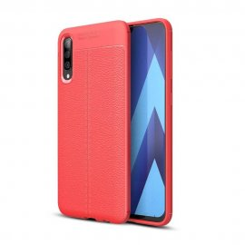 Funda Samsung Galaxy A70 Tpu Cuero 3D Roja