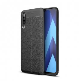 Funda Samsung Galaxy A70 Tpu Cuero 3D Negra