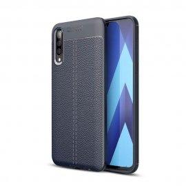 Funda Samsung Galaxy A70 Tpu Cuero 3D Azul