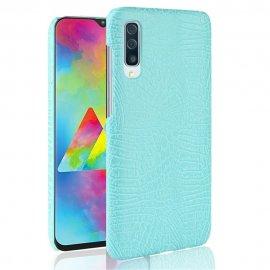 Carcasa Samsung Galaxy A70 Cuero Estilo Croco Turquesa