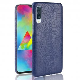 Carcasa Samsung Galaxy A70 Cuero Estilo Croco Azul