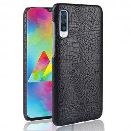 Carcasa Samsung Galaxy A70 Cuero Estilo Croco Negra