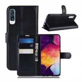 Funda Libro Samsung Galaxy A70 cuero Soporte Negro