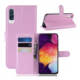 Funda Libro Samsung Galaxy A70 cuero Soporte Rosa