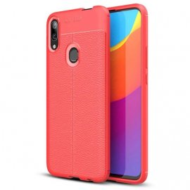 Funda Huawei P Smart Z Tpu Cuero 3D Roja