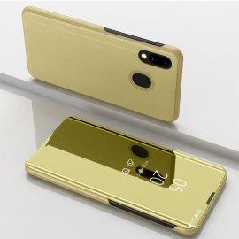 Funda Libro Smart Translucida Samsung Galaxy A20 Dorada