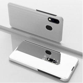 Funda Libro Smart Translucida Samsung Galaxy A20 Gris Plata