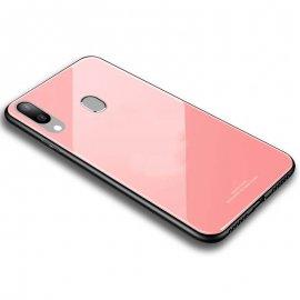 Carcasa Samsung Galaxy A20e Gel Trasera Cristal Rosa