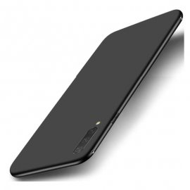 Funda Gel Xiaomi MI 9 Lite Flexible y lavable Mate Negra