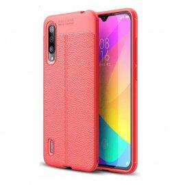 Funda Xiaomi MI 9 Lite Tpu Cuero 3D Roja