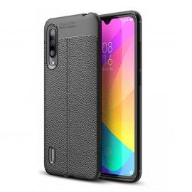 Funda Xiaomi MI 9 Lite Tpu Cuero 3D Negra